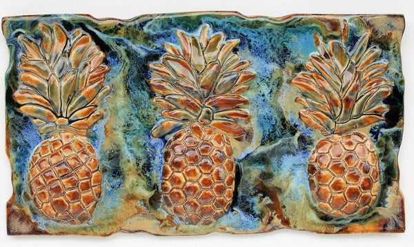 "Sweet Maui Pineapple Plaque 9""x17.5"" MP43 $345.00"