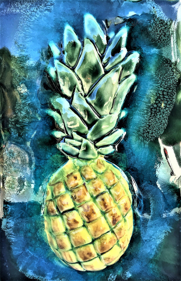 "Kitchen Plaque Pineapple 7""x10"" SP18 $195.00"