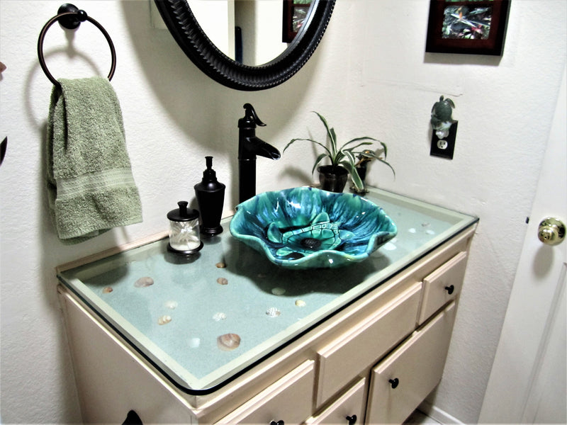 Ceramic Above Vessel Sink, Double Vanity Sinks, White Farmhouse Bathroom Sink, 18x5.5 $1,995.00 SI21