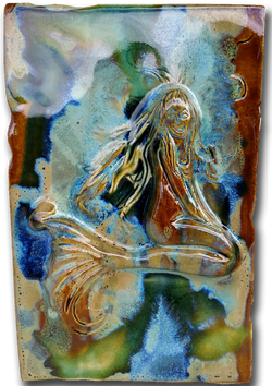 "Little Maui Mermaid Tile 7""x10"" SP43 $120.00"