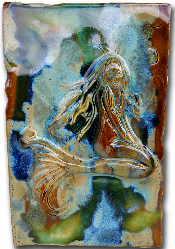 "Little Maui Mermaid Tile 7""x10"" SP43"