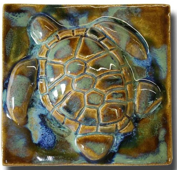 "Bathroom Tile Turtle 6""×6"" T05"