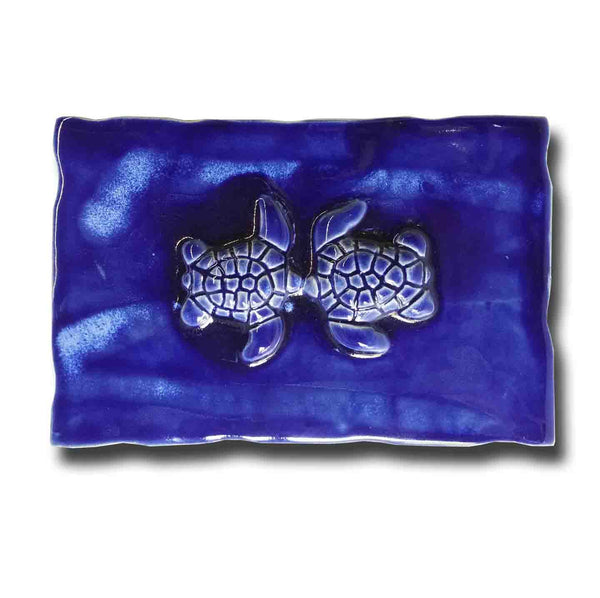 Ceramic Turtle Design for Kitchen Backsplash Tile, Bathroom Wall Hanging - Maui Ceramics