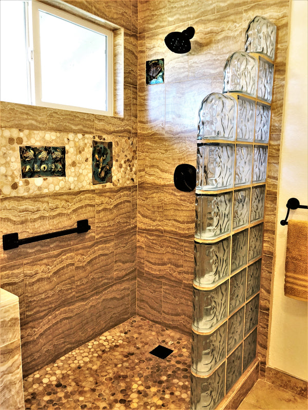 Bathroom Tile with Green Seahorse Relife Design $345.00 TI04