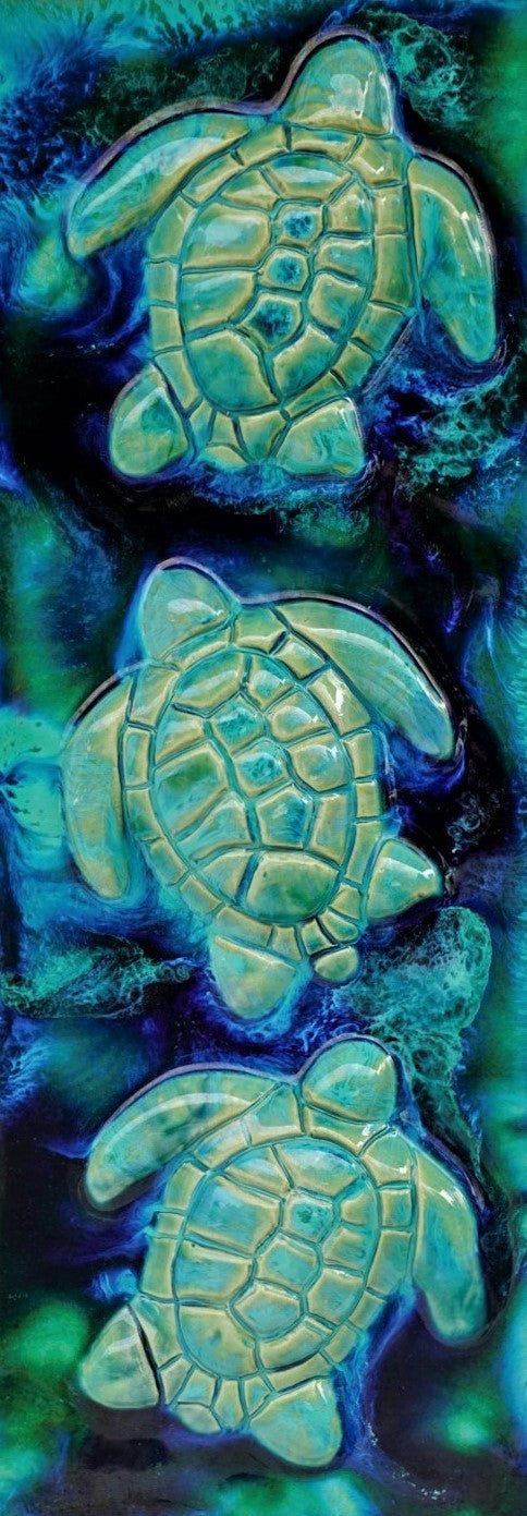 Sea Life Art - Hawaiian Green Sea Turtle - Maui Ceramics