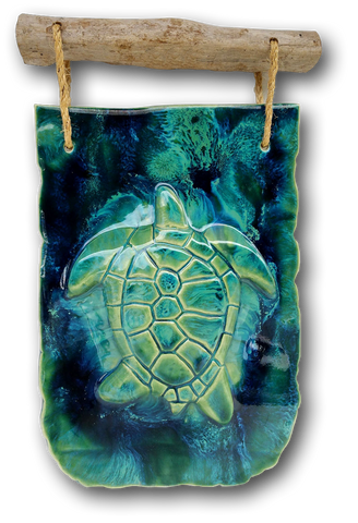 Turtle Wall Hanging w/Driftwood Design DW10