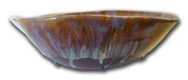 Ceramic Above Vessel Sink, Scallop Rim Design, Bathroom Sink 18x5.5 $1695.00 V56