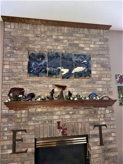 Ceramic Humpback Whale Wall Hanging, Maui Humpback Whale Art, Whale Art Decor, $3,995.00 DW07