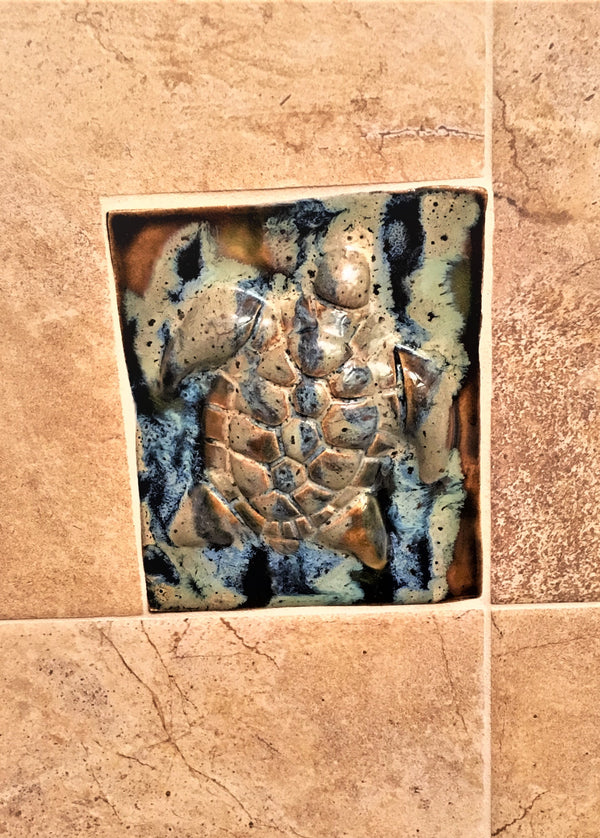 Bathroom Tile Turtle - Maui Ceramics