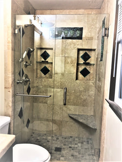 Bathroom Shower Tile with Pineapple Relief Design - Maui Ceramics