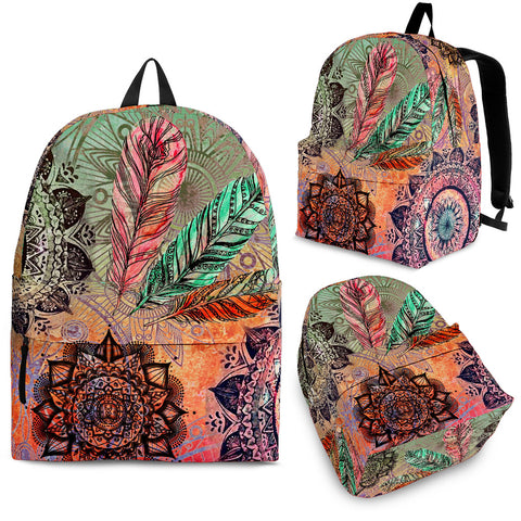 Mandala and Feathers Backpack