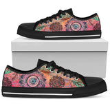Mandala and Feathers Low Tops