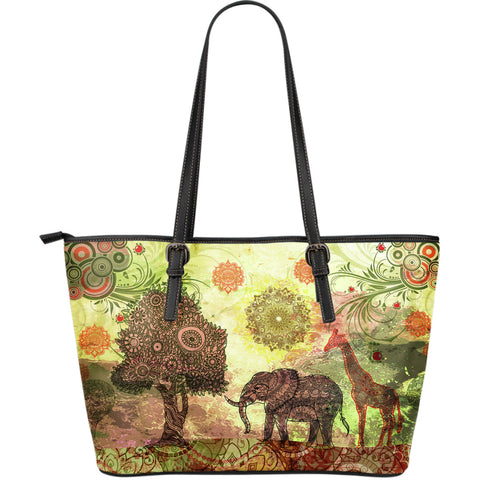 Paradise Large Leather Tote Bag