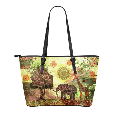 Paradise Small Leather Tote Bag