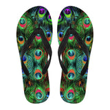 Peacock Feathers Flip Flops