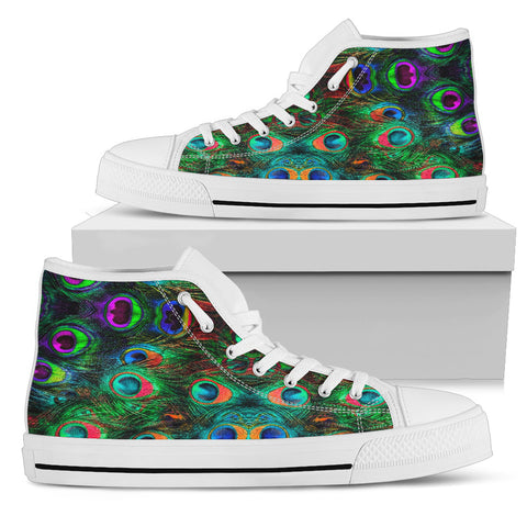 Peacock Feathers High Tops