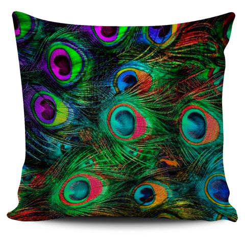 Peacock Feathers Pillow Cover