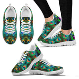 Peacock Feathers Sneakers