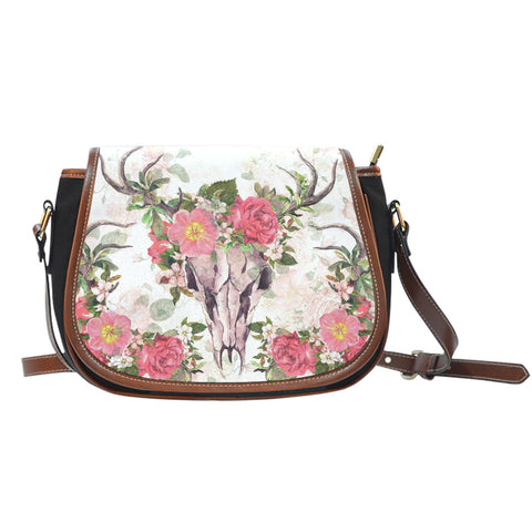 Undying Garden Canvas Saddle Bag