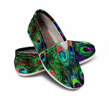 Peacock Feathers Casual Shoes