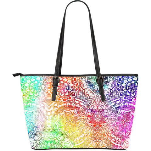 Kaleidoscope Dream Large Leather Tote Bag