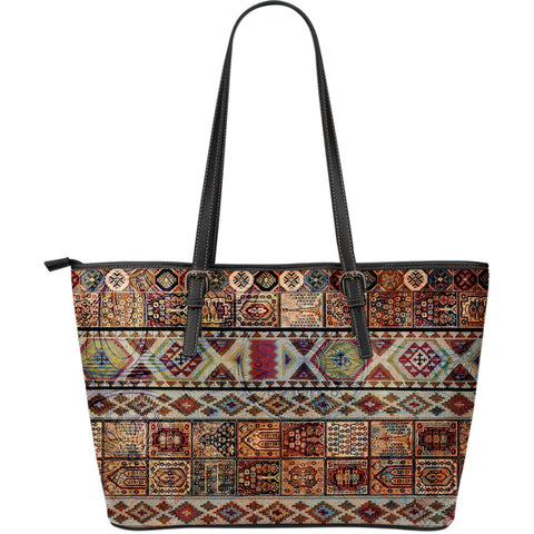 Gypsy Rhythm Large Leather Tote Bag