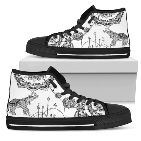 Bohemian Elephant High Tops