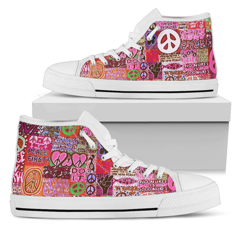 Peace and Love High Tops