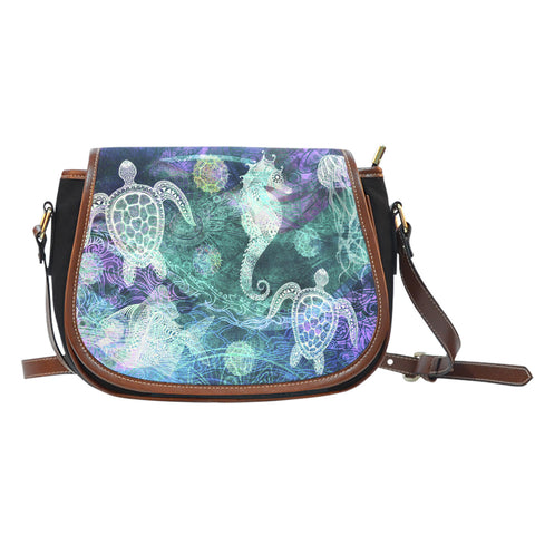 Ocean Breeze Canvas Saddle Bag