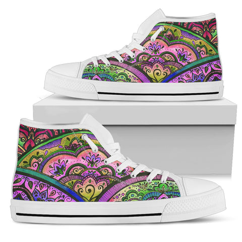 Mandala Feast High Tops