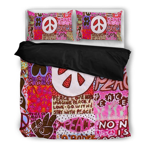 Peace and Love Bedding Set