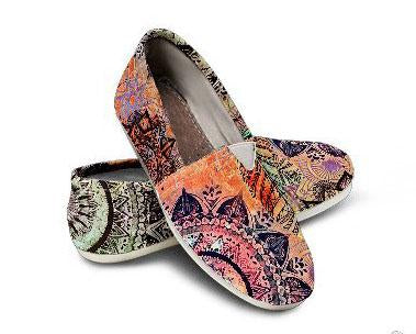 Mandala and Feathers Casual Shoes