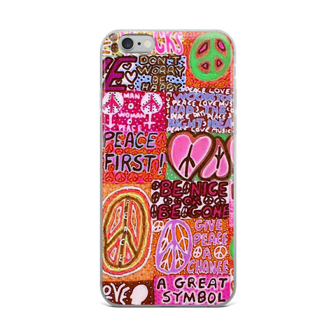 Peace and Love iPhone 5/5s/SE, 6/6s, 6/6s Plus Case