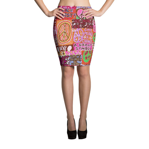 Peace and Love Pencil Skirt
