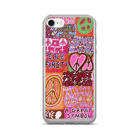Peace and Love iPhone 7/7 Plus Case