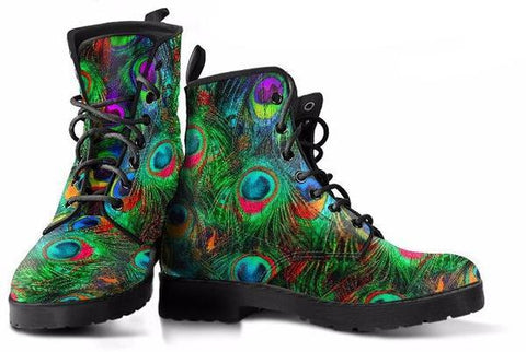 Peacock Feathers Boots