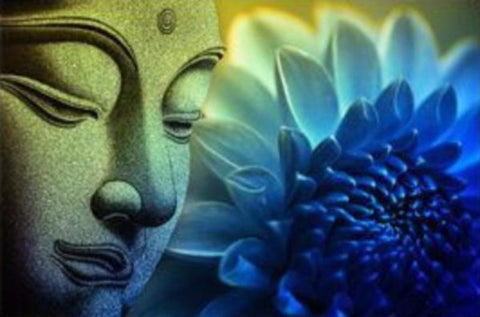 Buddha Loves Lotus Canvas