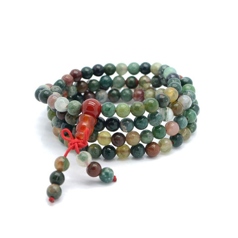 Natural Stone Mala Prayer Bracelet