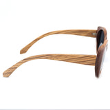Oversized Zebra Wood Sunglasses