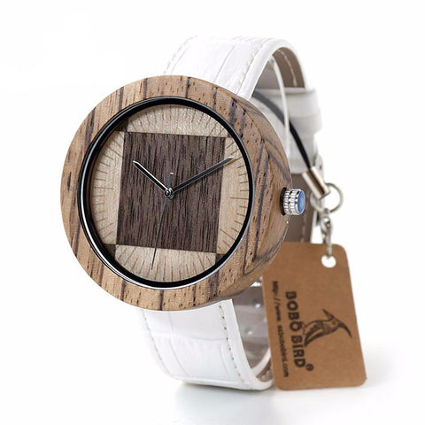 White Wash Wooden Watch