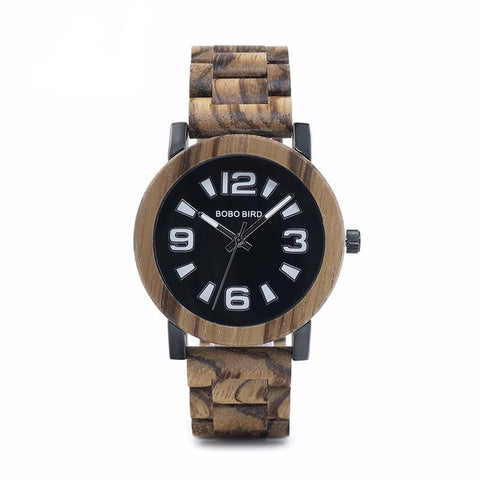 Zebra Grain Wooden Watch