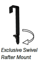 P/N: SHW-KIT, 2-PIECE SWIVEL RAFTER MOUNT & INLINE SHOW CATTLE CORD