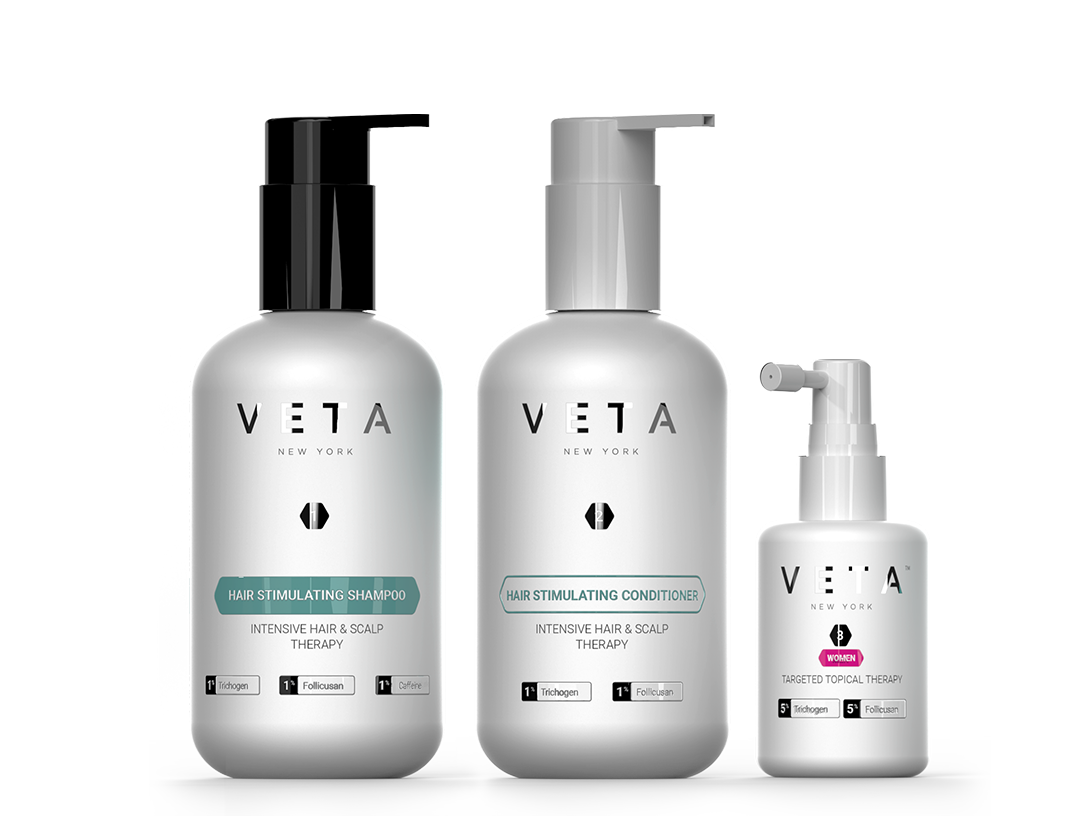 Veta 3-Step Hair Growth System For Women
