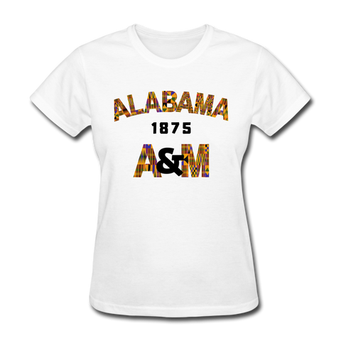 Alabama A&M University (AAMU) Rep U Heritage Women's T-Shirt - white