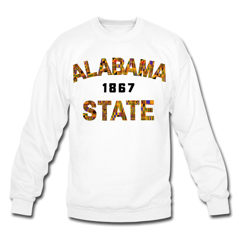 Alabama State University Rep U Heritage Crewneck Sweatshirt - white