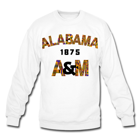 Alabama A&M University (AAMU) Rep U Heritage Crewneck Sweatshirt - white