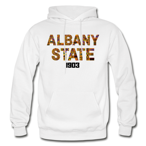 Albany State University Rep U Heritage Adult Hoodie - white