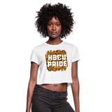 Rep U HBCU Pride Women's Cropped T-Shirt - white