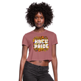 Rep U HBCU Pride Women's Cropped T-Shirt - mauve