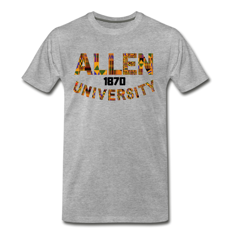 Allen University Rep U Heritage Short Sleeve T-Shirt - heather gray